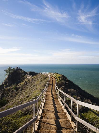 Muir Beach Overlook Golden Gate National Recreation Area San Francisco Bay California Usa