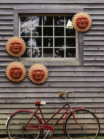 walter-bibikow-sun-masks-and-bicycle-wiscasset-maine-usa