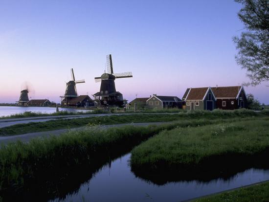 walter-bibikow-windmills-at-sunset-zaanstad-north-holland