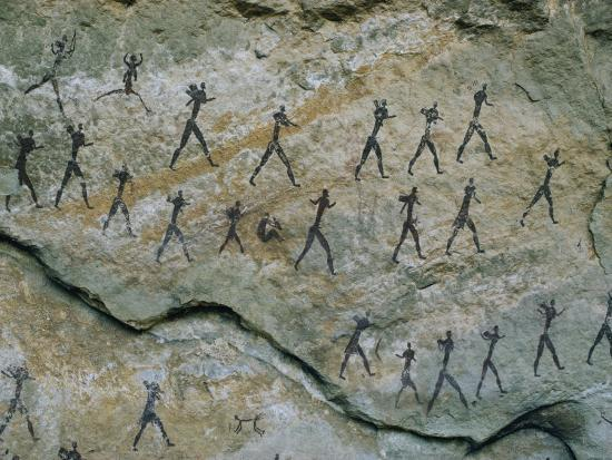 walter-meayers-edwards-ancient-pictographs-on-a-rock-wall