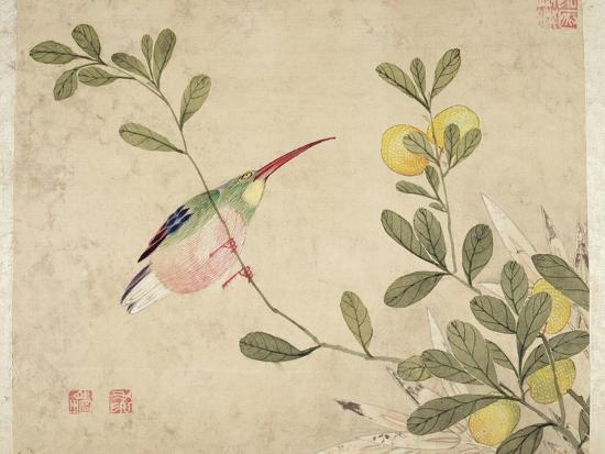 wang-guochen-one-of-a-series-of-paintings-of-birds-and-fruit-late-19th-century