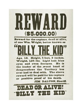 wanted-poster-for-billy-the-kid-offering-5000-dollars-reward-1880s