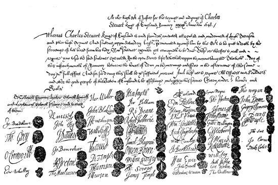 warrant-for-the-execution-of-king-charles-1648