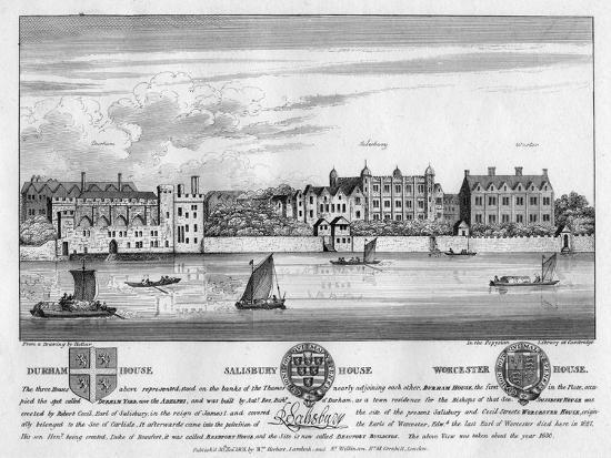 wenceslaus-hollar-durham-house-salisbury-house-and-worcester-house-london-c1630