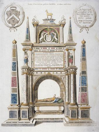 wenceslaus-hollar-monument-to-sir-christopher-hatton-in-old-st-paul-s-cathedral-city-of-london-1656