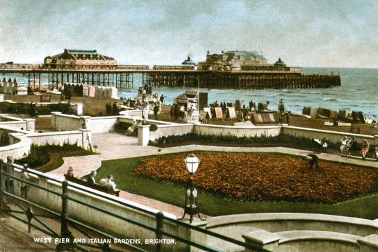 west-pier-and-italian-gardens-brighton-sussex-1928