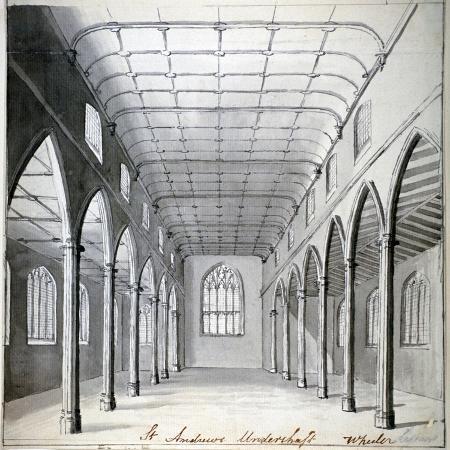 wheeler-interior-view-of-the-church-of-st-andrew-undershaft-leadenhall-street-london-c1820