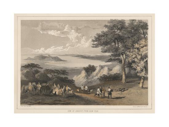 wilhelm-joseph-heine-view-of-hakodadi-from-snow-peak-1855