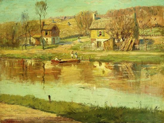 willard-leroy-metcalf-reflections-in-the-water-c-1895-1919