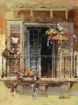 Balcony iv art print by willem haenraets at for Balcony translate