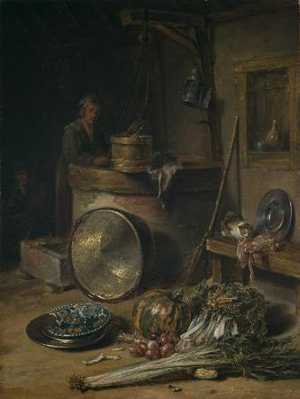 willem-kalf-peasant-interior-with-woman-at-a-well-c-1642-43