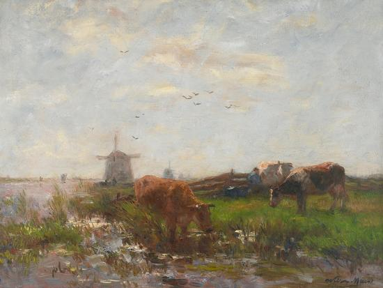 willem-maris-cattle-grazing-at-the-water-s-edge-c-1880-90