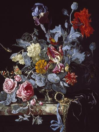 willem-van-aelst-a-vase-of-flowers-with-a-watch
