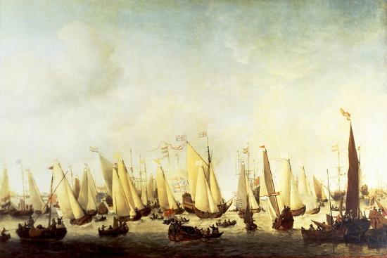 willem-van-de-velde-ii-embarkation-of-charles-ii-stuart-at-scheveningen-1660