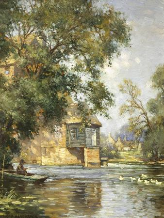 william-blacklock-the-mill-pond-houghton-huntingdonshire