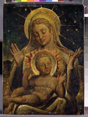 william-blake-virgin-and-child-1825-tempera-on-panel