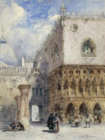 william-callow-the-doge-s-palace-and-the-piazzetta-venice