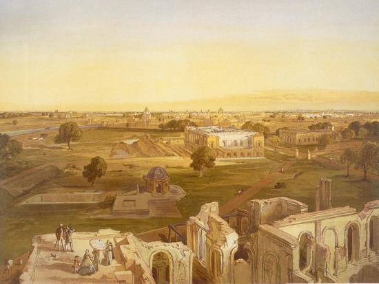 william-crimea-simpson-lucknow-from-india-ancient-and-modern-1867-colour-litho