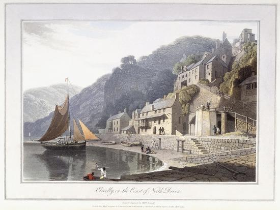 william-daniell-clovelly-on-the-coast-of-north-devon-1814