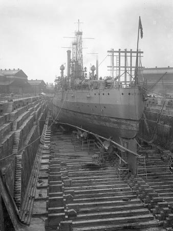 william-davis-hassler-the-u-s-s-utah-in-dry-dock-at-the-brooklyn-navy-yard-c-1912