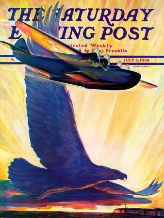 william-heaslip-foreshadowing-flight-saturday-evening-post-cover-july-2-1938