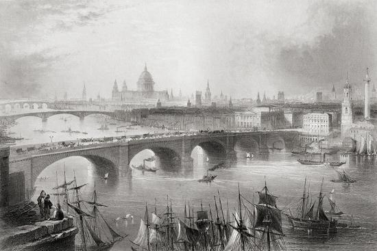 william-henry-bartlett-london-southwark-and-blackfriars-bridges-over-the-river-thames-london-england-from