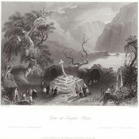 william-henry-bartlett-scene-at-gougane-barra-in-county-cork