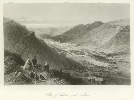 william-henry-bartlett-valley-of-sichem-and-nablus-palestine