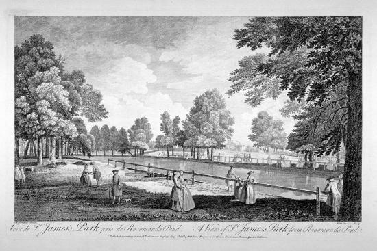 william-henry-toms-view-of-st-james-s-park-from-rosamond-s-pond-westminster-london-1745