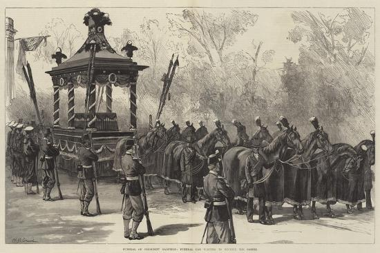 william-heysham-overend-funeral-of-president-garfield-funeral-car-waiting-to-receive-the-coffin