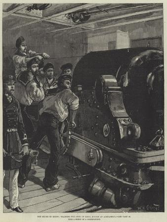 william-heysham-overend-the-crisis-in-egypt-training-the-guns-of-hms-sultan-at-alexandria