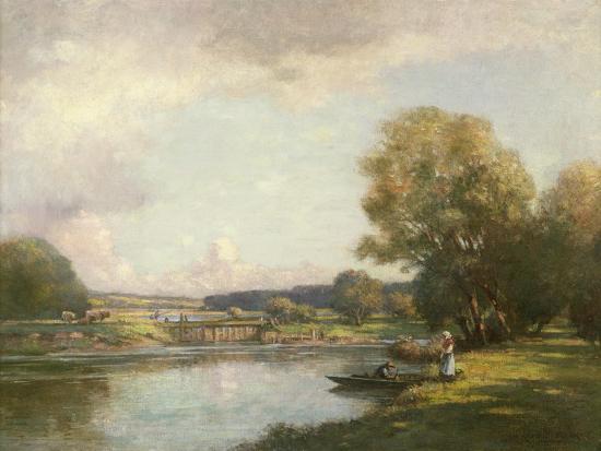 william-kay-blacklock-summer-at-hemingford-grey