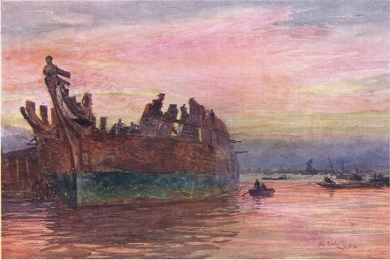 william-lionel-wyllie-the-end-of-an-old-warship-1915