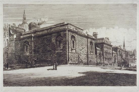 william-monk-view-of-newgate-prison-old-bailey-from-newgate-street-city-of-london-c1900