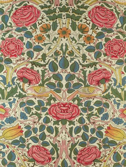 Rose 1883 giclee print by william morris at for Arts and crafts style prints