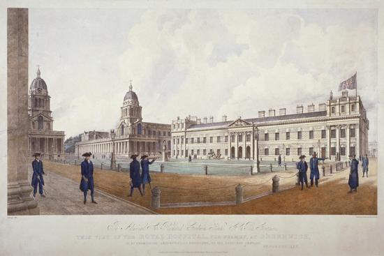william-porden-kay-view-of-greenwich-hospital-with-residents-in-the-foreground-london-1830