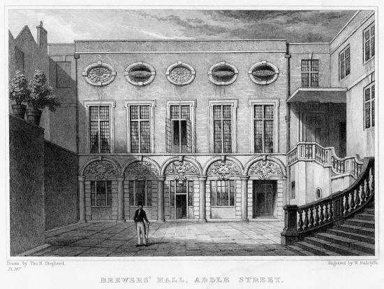 william-radclyffe-brewers-hall-addle-street-city-of-london-1831