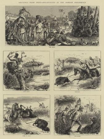 william-ralston-sketches-from-india-hog-hunting-in-the-bombay-presidency
