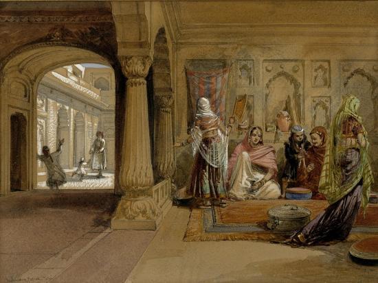 william-simpson-the-mahomedam-hareem-delhi-1864