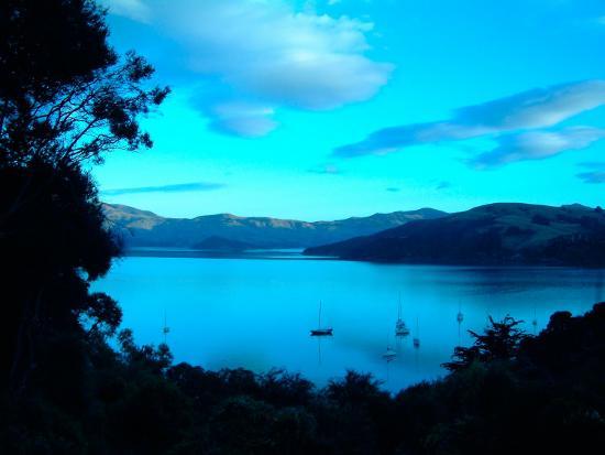william-sutton-sailboats-at-anchor-akaroa-peninsula-new-zealand