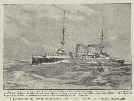 william-t-maud-a-novelty-in-the-naval-manoeuvres-h-m-s-juno-fitted-for-wireless-telegraphy