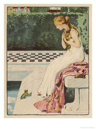 willy-planck-the-princess-discovers-a-frog-at-her-feet-curiously-he-too-is-wearing-a-crown