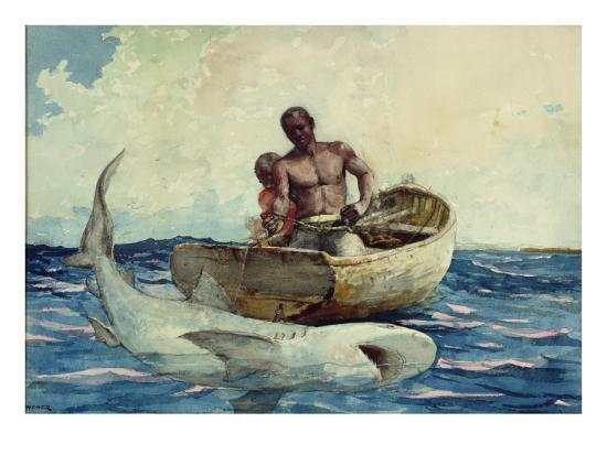 winslow-homer-shark-fishing-1885