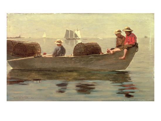 winslow-homer-three-boys-in-a-dory-1873