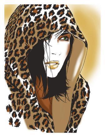 woman-with-leopard-skin-hood