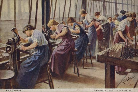 women-working-as-file-cutters-for-cammell-laird-marine-engineers-sheffield-yorkshire-1917