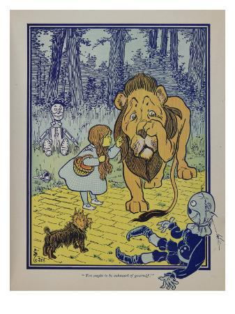 wonderful-wizard-of-oz-main-characters-dorothy-speaks-to-the-cowardly-lion