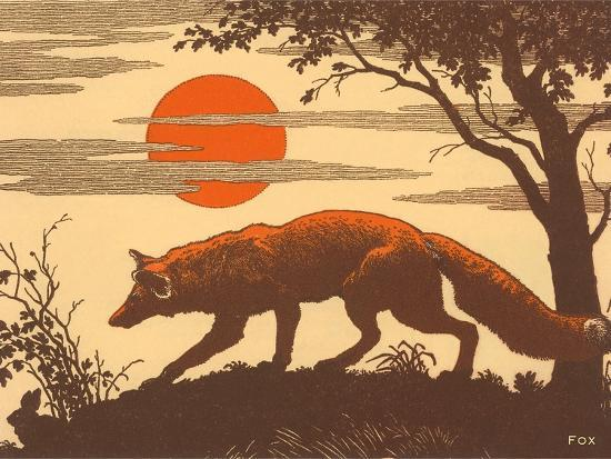 woodcut-of-fox