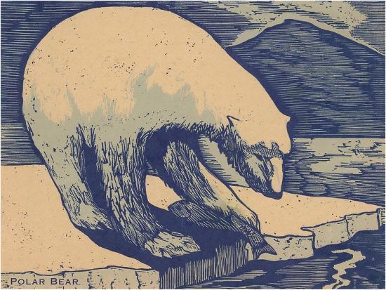 woodcut-of-polar-bear