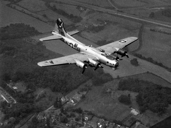 world-war-ii-b-17-flying-fortress-sally-b-in-flight-after-blow-out-july-1983